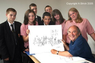 Quentin Blake meeting young people